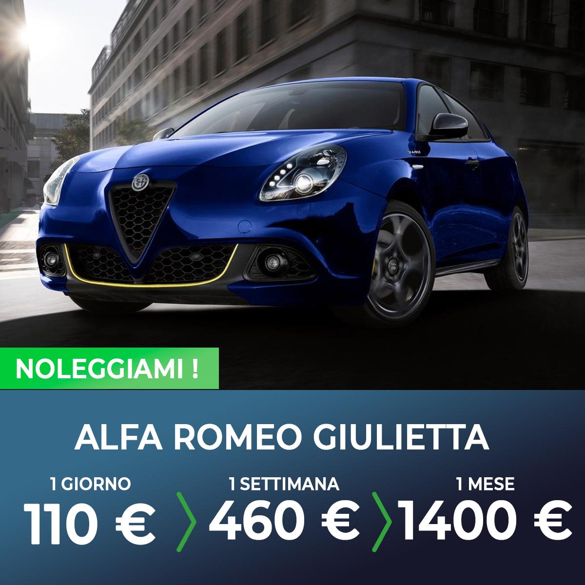 Alfa Romeo Giulietta noleggio breve termine