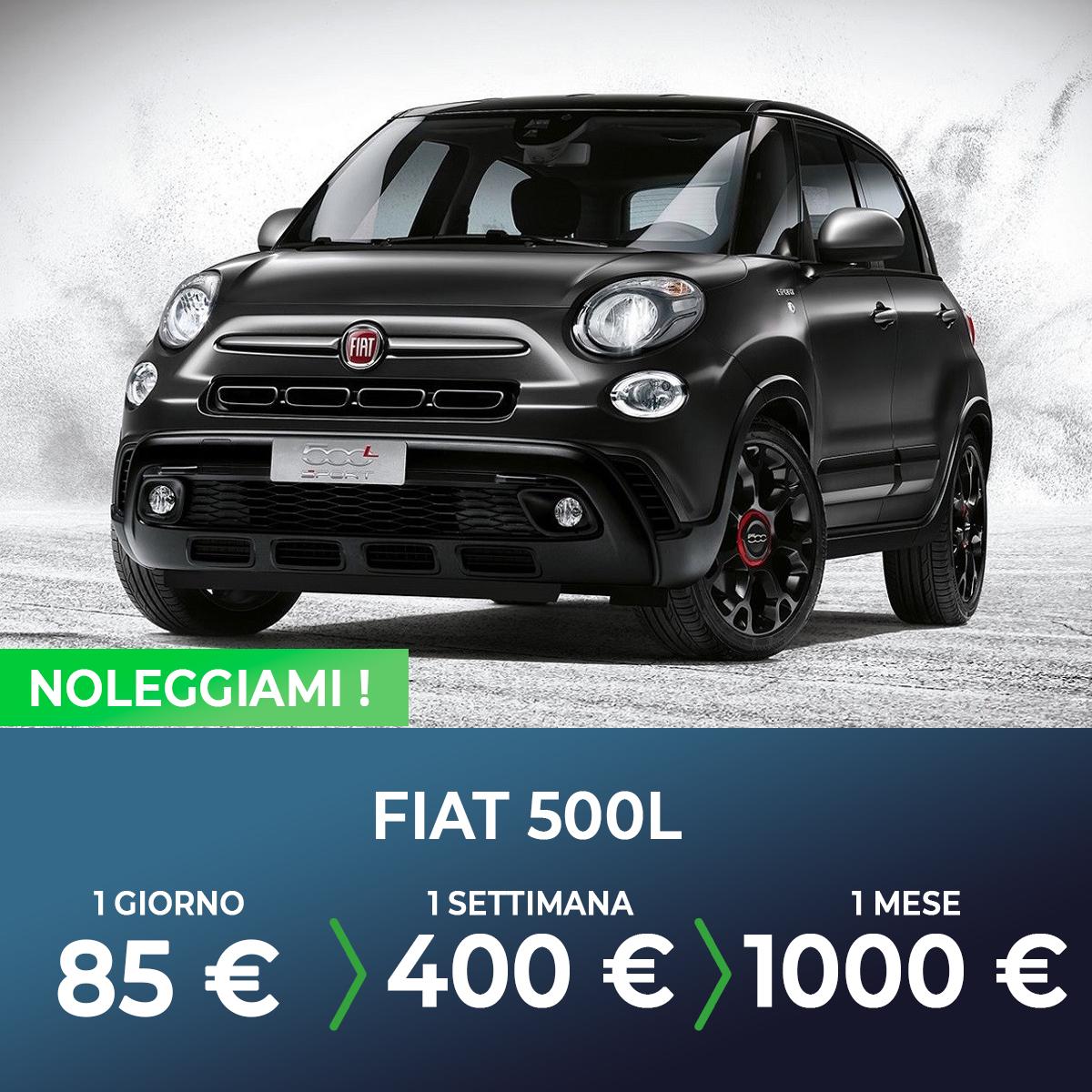 Fiat 500L noleggio breve termine