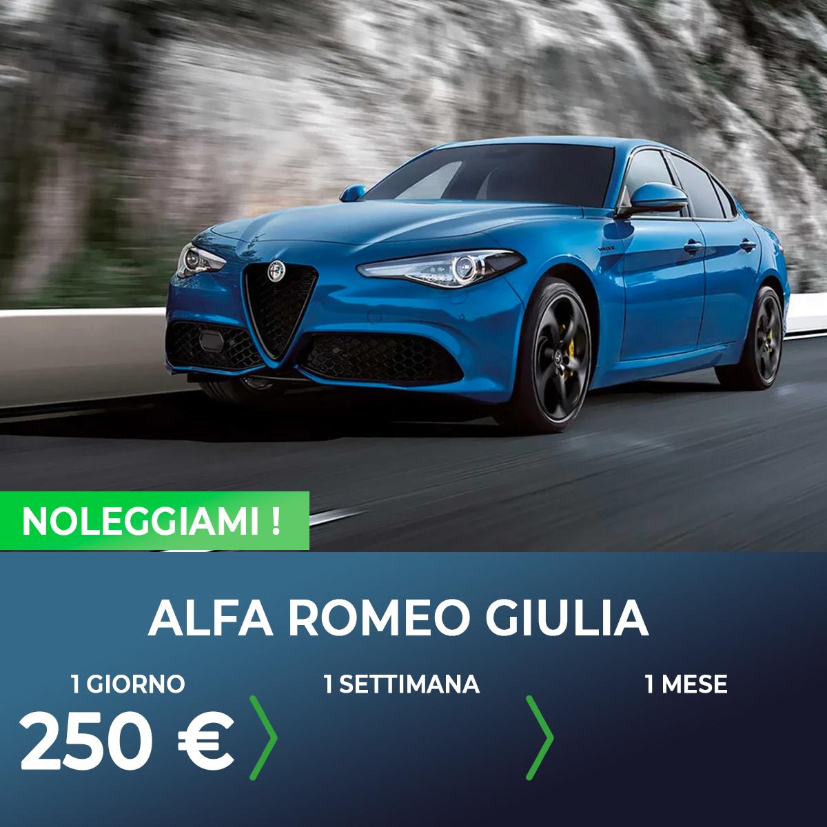 Alfa Romeo Giulia noleggio breve termine