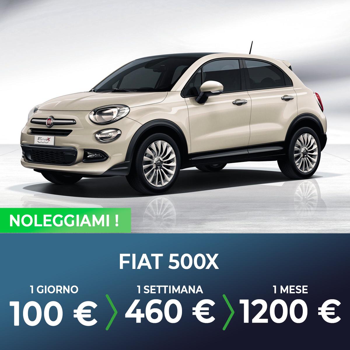 Fiat 500X noleggio breve termine